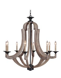 35128-WP Chandelier Weathered Pine