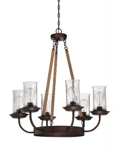 36126-ABZ Chandelier Aged Bronze Brushed