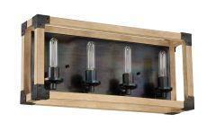 41504-FSNW Vanity Light Fired Steel-Natural Wood