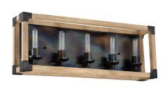 41505-FSNW Vanity Light Fired Steel-Natural Wood