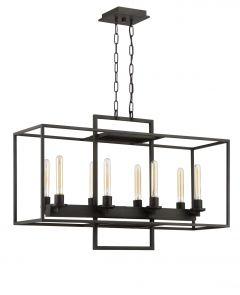 Cubic 8 Light Chandelier