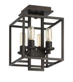 Cubic 4 Light Semi Flush