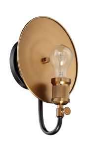 42361-FBPAB Wall Sconce Flat Black-Patina Aged Brass