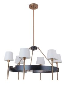 44426-FSSB Chandelier Fired Steel-Satin Brass