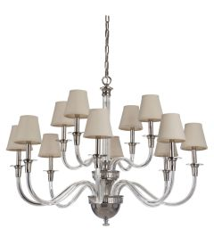 48012-PLN Chandelier Polished Nickel