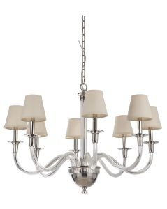 48028-PLN Chandelier Polished Nickel