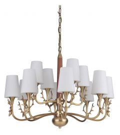 48212-VB Chandelier Vintage Brass