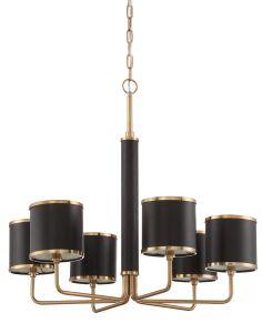 48826-SB Chandelier Satin Brass