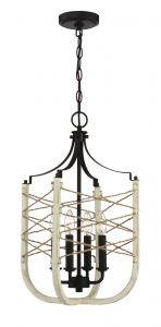 52334-CWESP Foyer Cottage White-Espresso