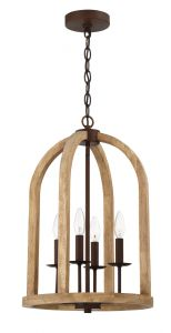 52734-NWABZ Foyer Natural Wood-Aged Bronze Brushed