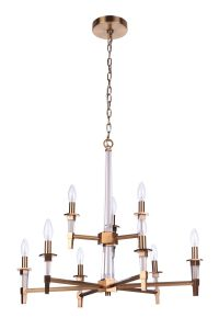 53229-SB Chandelier Satin Brass