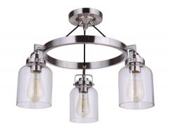 Foxwood 3 Light Semi Flush