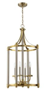 54834-BNKSB Foyer Brushed Polished Nickel - Satin Brass