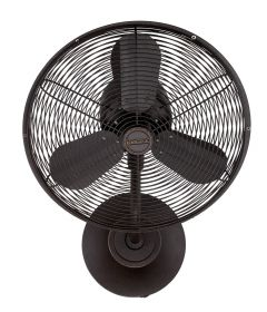 """Bellows I Hard-wired 16"""" Hard-Wired Wall Mount Fan"""
