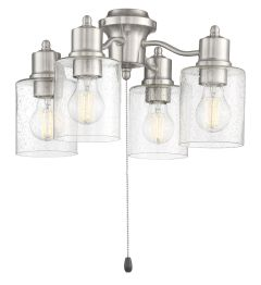 4 Light Fitter and Glass 4 Light Universal Fan Light Kit