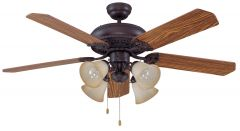"""Manor 52"""" Ceiling Fan with Blades and Light Kit"""