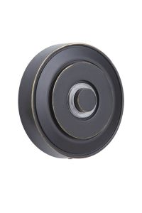 Push Button Surface Mount Lighted Push Button, with Round LED Halo Light in Antique Bronze