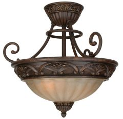 X5816-AG Semi Flush Aged Bronze Textured
