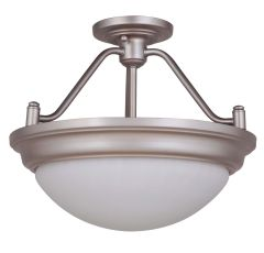 Pro Builder Premium Flush 2 Light Convertible Semi Flush