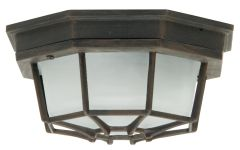 Bulkheads Octagonal Cast 1 Light Large Flushmount