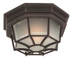 Bulkheads Octagonal Cast 1 Light Small Flushmount