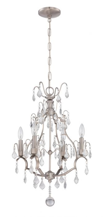 1074C-BNK Mini Chandelier Brushed Polished Nickel