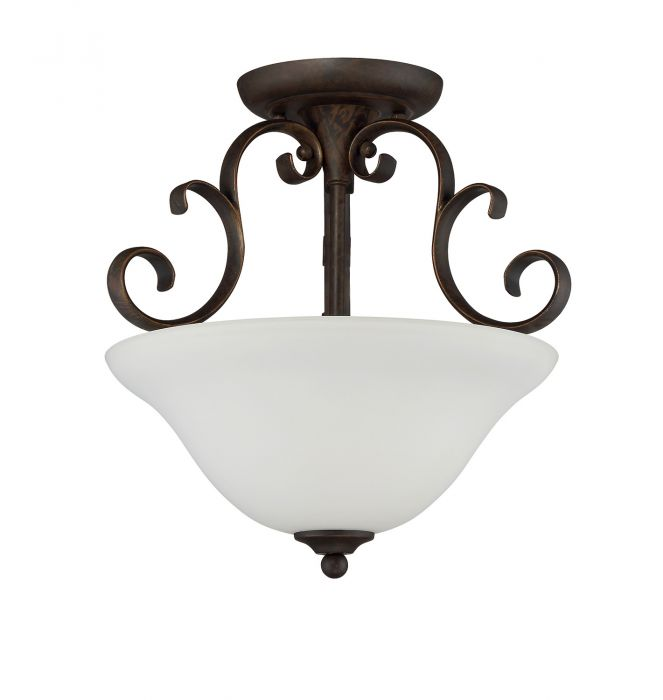 Barrett Place 3 Light Semi Flush