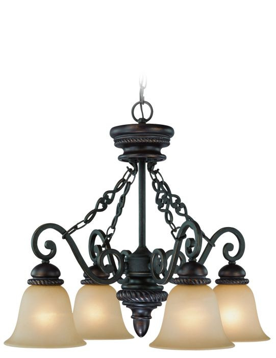 25224-MB Down Chandelier Mocha Bronze