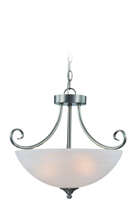 Raleigh 3 Light Convertible Semi Flush/Pendant