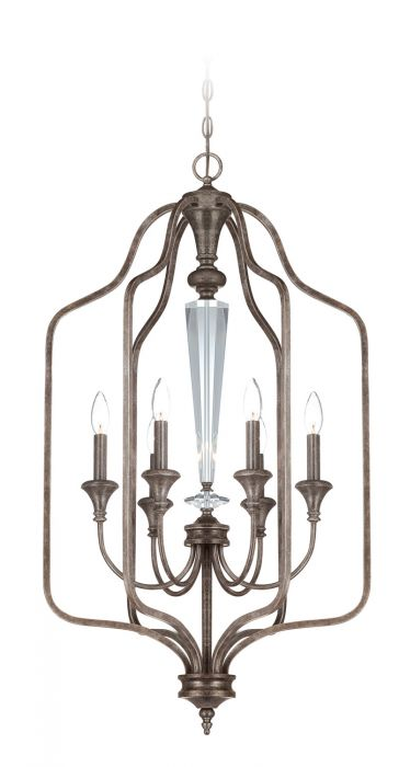26736-MBS Foyer Mocha Bronze Silver Wash