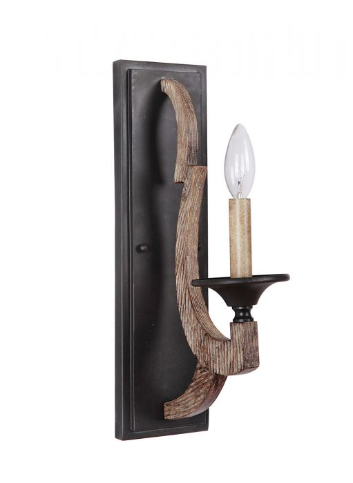 35161-WP Wall Sconce Weathered Pine