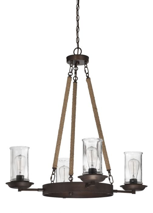 36124-ABZ Up/Down Chandelier Aged Bronze Brushed