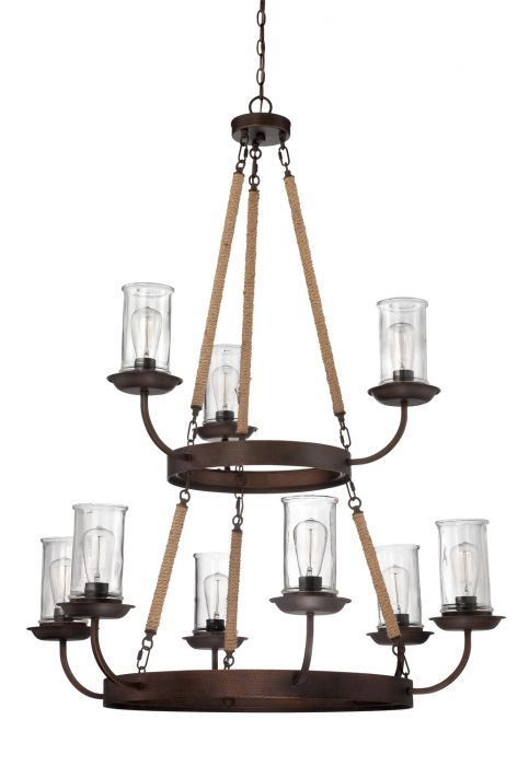 36129-ABZ Chandelier Aged Bronze Brushed