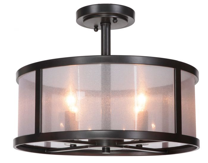 36754-MBK Semi Flush Matte Black