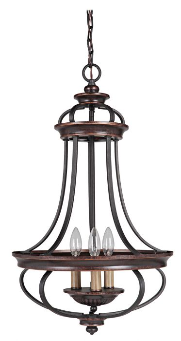 38733-AGTB Foyer Aged Bronze-Textured Black