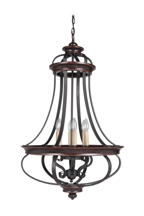 38736-AGTB Foyer Aged Bronze-Textured Black