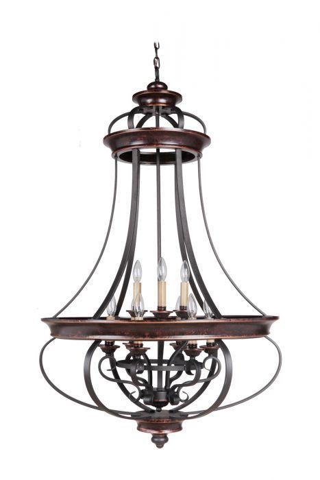 38739-AGTB Foyer Aged Bronze-Textured Black