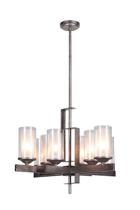39328-NIVNI Chandelier Natural Iron-Vintage Iron