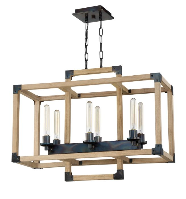 Cubic 6 Light Chandelier