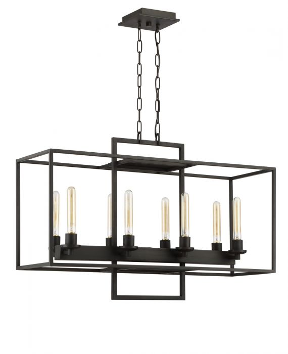 Cubic 8 Light Chandelier