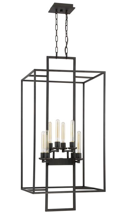Cubic 8 Light Foyer