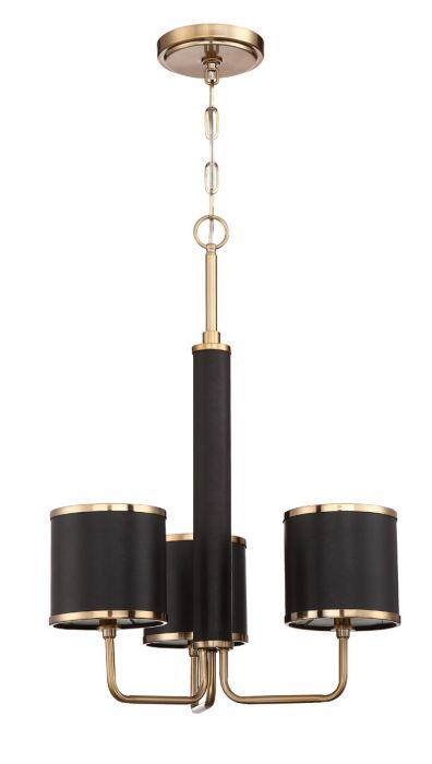48823-SB Chandelier Satin Brass