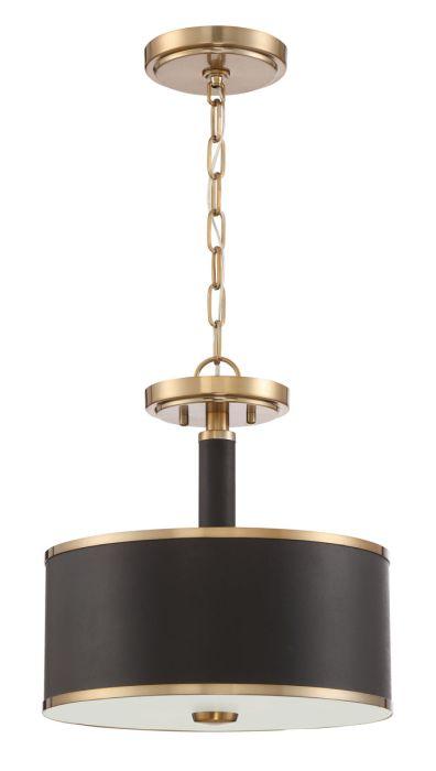 48852-SB Convertible Semi Flush Satin Brass
