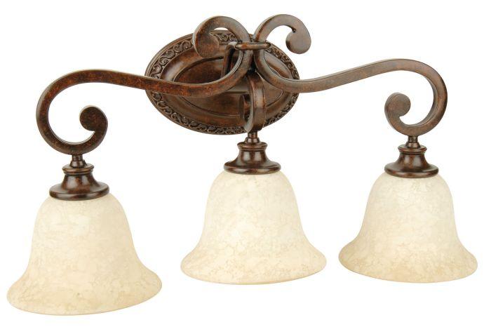 9125PR3 Vanity Light Peruvian Bronze