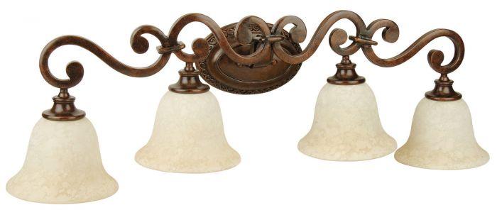 9135PR4 Vanity Light Peruvian Bronze