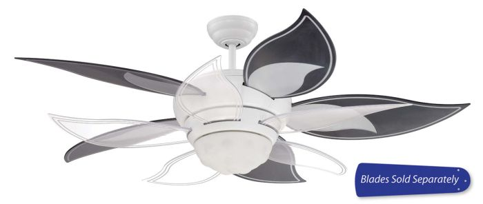 BL52W Customizable Fan - Select Blades (Sold Separately) White