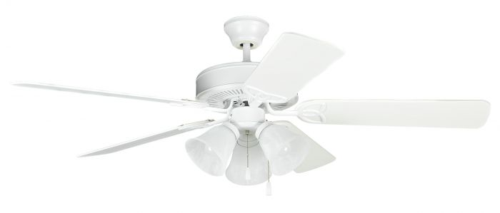 BLD52MWW5C3 Ceiling Fan (Blades Included) Matte White