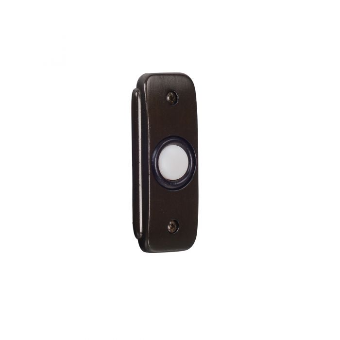 Builder Recessed Buttons Stepped Rectangle Lighted Push Button in Bronze