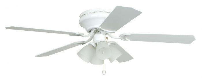"""Brilliante 4 Light 52"""" Ceiling Fan with Blades and Light Kit"""