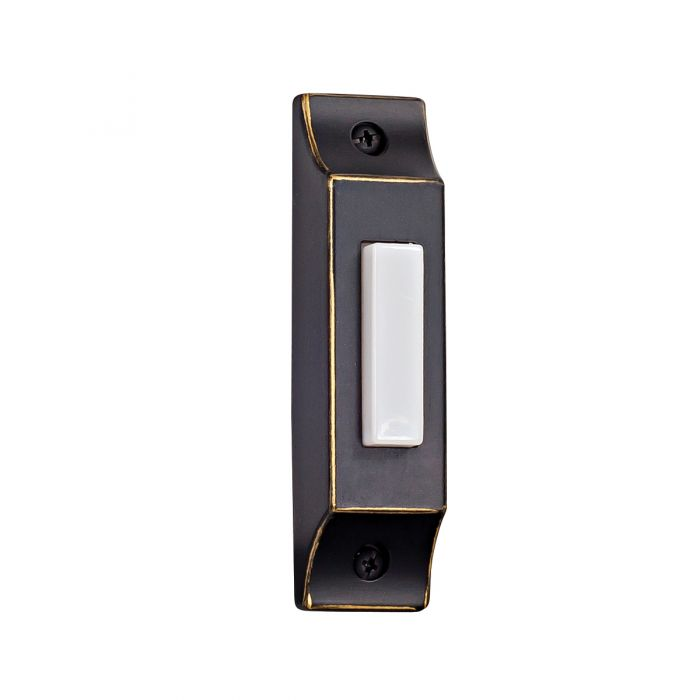 Builder Surface Mount Buttons Die-Cast Builder's Series Surface Mount Lighted Push Button in Antique Bronze
